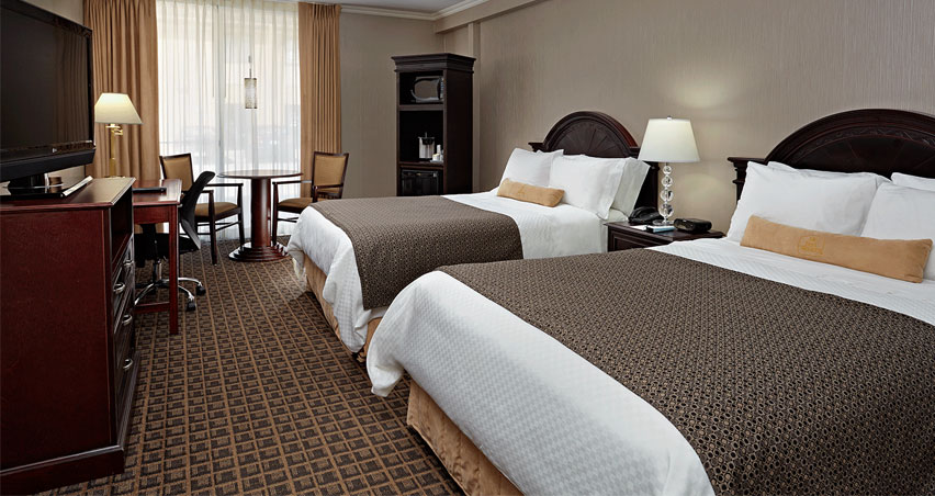 Traditional Two Double Beds Ontario Hotel